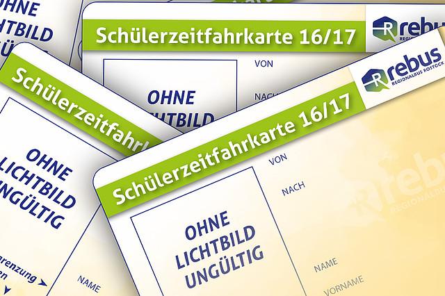 Schülerzeitfahrkarten für das Schuljahr 2016/17