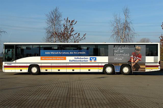 buswerbung auf den bussen rebus regionalbus rostock gmbh aus g strow. Black Bedroom Furniture Sets. Home Design Ideas