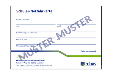 Verlorene Fahrausweise Rebus Regionalbus Rostock Gmbh Aus Güstrow